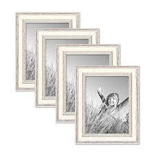 cornici per foto set da 4 cornici per foto da 15x20 cm bianco in stile country