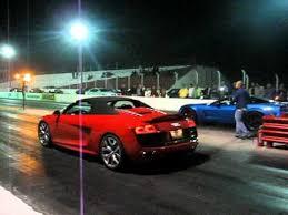 corvette vs audi r8 audi r8 spyder v10 vs chevrolet corvette z06