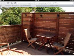 deck backyard ideas deck idea love the privacy wall deck pinterest privacy