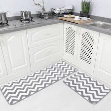 Microfiber Runner Rug Carvapet 2 Pieces Microfiber Chevron Non Slip Soft Kitchen Mat