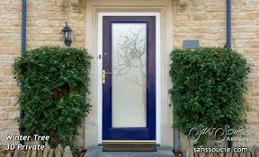 Doors Exterior Entry Winter Tree 3d Glass Front Doors Exterior Glass Doors Glass