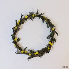 dry flower wreath garden wreath thin grapevine wreath