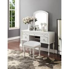 3 Piece Vanity Set White Bedroom U0026 Makeup Vanities Joss U0026 Main