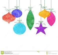 whimsical hanging ornaments stock illustration image