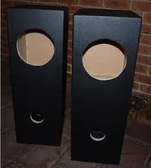 Bass Speaker Cabinet Design Plans Fostex Fe206en In Double Bass Reflex Speaker Enclosure