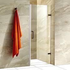 28 Shower Door Vigo Soho 28 In Adjustable Frameless Shower Door With Clear Glass