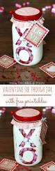 valentine u0027s day see through jar with free printable princess
