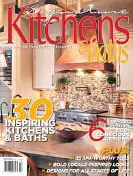 Designer Kitchens Magazine by Splash Selected For The Cover Of Signature Kitchens U0026 Baths