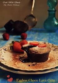 eggless choco lava cake eggless molten lava cake cook with smile