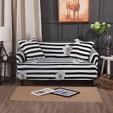 housse extensible canapé d angle noir et blanc rayures canapé canapé d angle housses pour salon