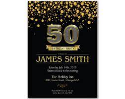 50th birthday invitation for men etsy