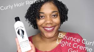 light gel for curly hair soft bouncy curls ft bounce curl light cream gel youtube