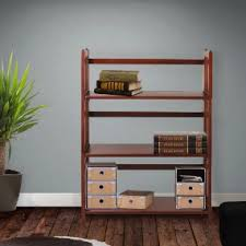 Foldable Bookcases Amazon Com Casual Home 3 Shelf Folding Stackable Bookcase 27 5