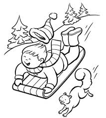 fun winter color pages print winter coloring pages