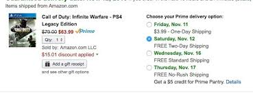 amazon prime black friday sale best call of duty infinite warfare black friday deals