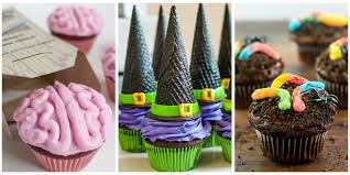 Cake Decorating Ideas At Home 16 Easy Halloween Cupcake Recipes Halloween Cupcake Decorating Ideas