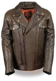 leather motorcycle jackets for sale men s motorcycle brn double pistol pete utility jacket full sleeve