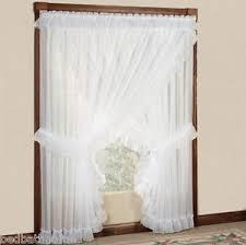 Sheer Ruffled Curtains New Sheer Ruffled Priscilla Curtain Panel Pair With