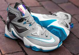 Nike Lebron 13 nike lebron 13 grey blue white sneaker bar detroit