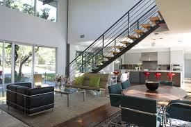 Free Standing Stairs Design Mid Century Stair Railing Staircase Contemporary With Modern