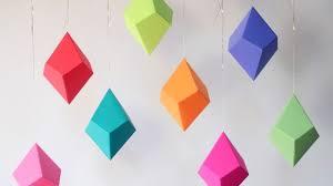 brights palette geometric paper ornaments