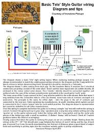 telecaster wiring diagram ironstone electric guitar pickups