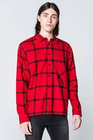 squared flannel check shirt shirts cheapmonday
