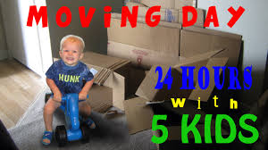 24 hours with 5 kids on a moving day youtube