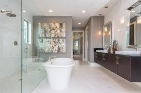 Recessed Lights Bathroom Outstanding Gray Color Combinations With Recessed Lighting