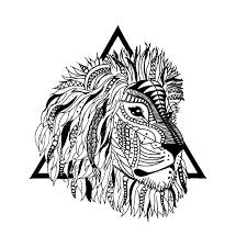 geometric lion geometric lion temporary tattoo momentary ink