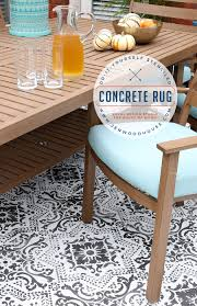 Weather Rugs Diy Stenciled Concrete Rug