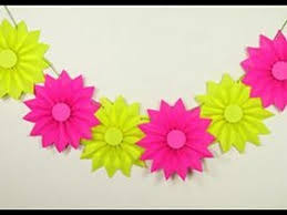 diy paper rosettes garland for simple decorations on budget