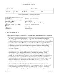 best photos of job description template samples pdf sample job