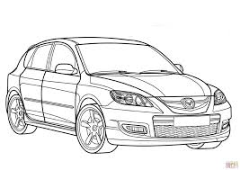 mazda 3 mps coloring page free printable coloring pages