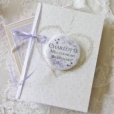 bridesmaid invitation card large personalised magnet bridesmaid invite card by bedcrumb