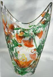 Crystal Glass Vase Carved Glass Vases Sandblasted Glass Vases Rocky Mountain Artist