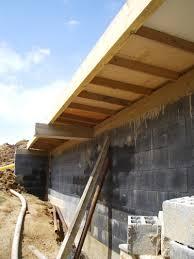terrasse en bois suspendue création d u0027une terrasse en bois sur mur en parpaing banché forum