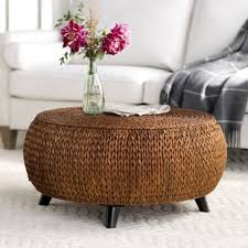 gold drum coffee table drum gold coffee tables you ll love wayfair