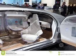 autonomous concept car interior editorial image