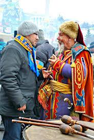 ukrainian thanksgiving ukrainian cossack demonstrators kyiv maidan ukrainian