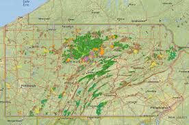 map of pa new map shows fracking on pa state lands 90 5 wesa