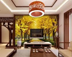 beibehang custom 3d wallpaper autumn maple leaves gold tree 3d tv