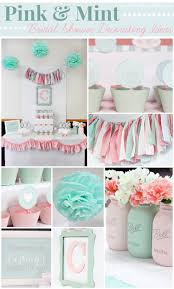 pink and mint bridal shower my sister u0027s bridal shower love of