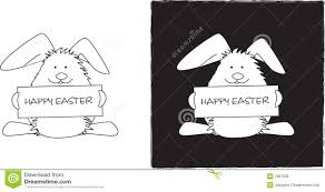 easter bunny line drawing royalty free stock photo image 7987635
