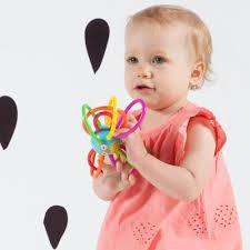 amazon com manhattan toy zoo winkel owl rattle and sensory