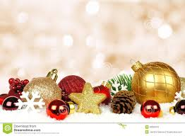 ornaments with twinkling background stock photo image