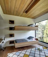bedroom mothersill bedroom features floating wooden beds with