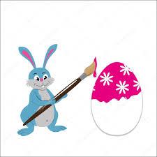 easter bunny paint easter egg u2014 stock vector shain 98500422