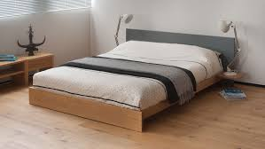 oregon low platform bed solid wood natural bed company