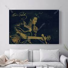 popular guitar canvas art buy cheap guitar canvas art lots from elvis guitar music vintage canvas art print painting poster wall picture for living room home decorative